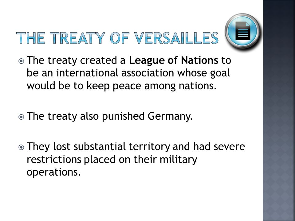  The war guilt clause placed sole responsibility for the war on Germany's shoulders.