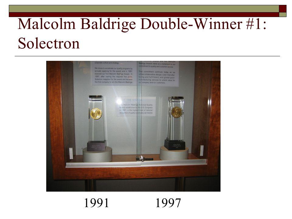Malcolm Baldrige Double-Winner #1: Solectron 1991 1997
