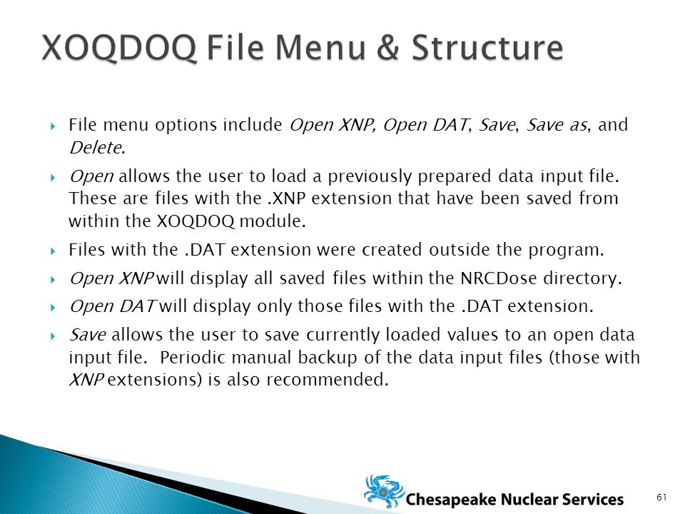  File menu options include Open XNP, Open DAT, Save, Save as, and Delete.