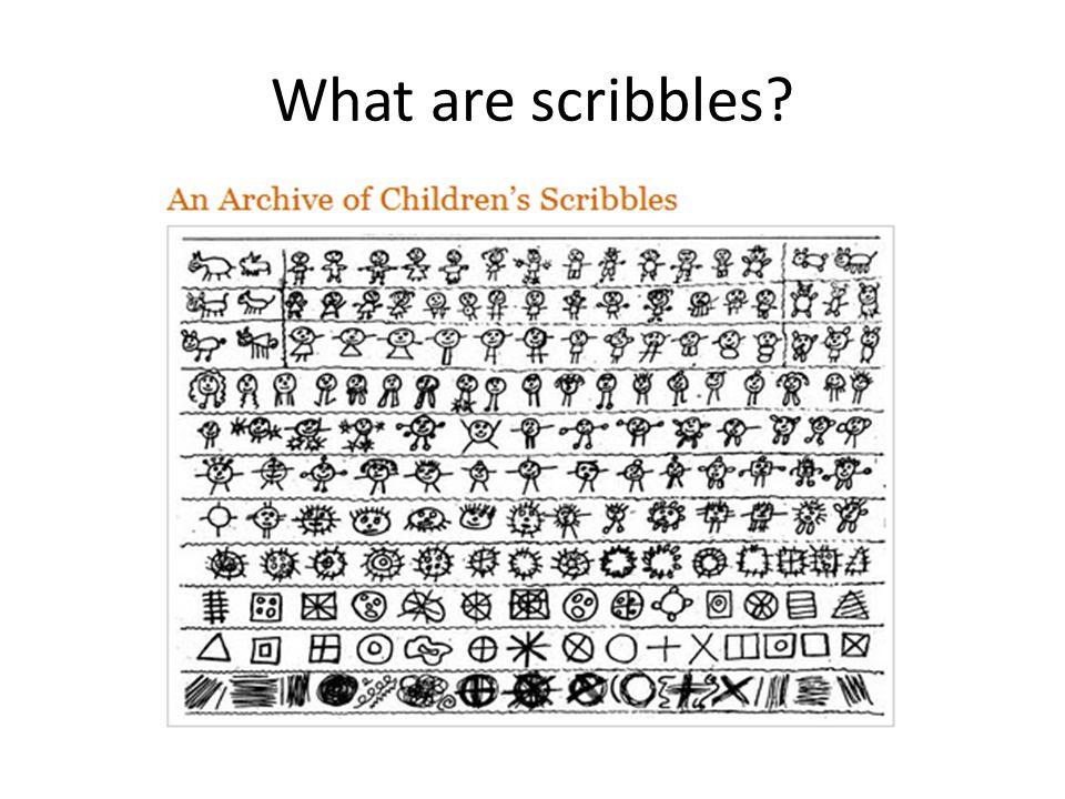 Examples of Children's Scribbles Random Scribbles Combined Scribbles