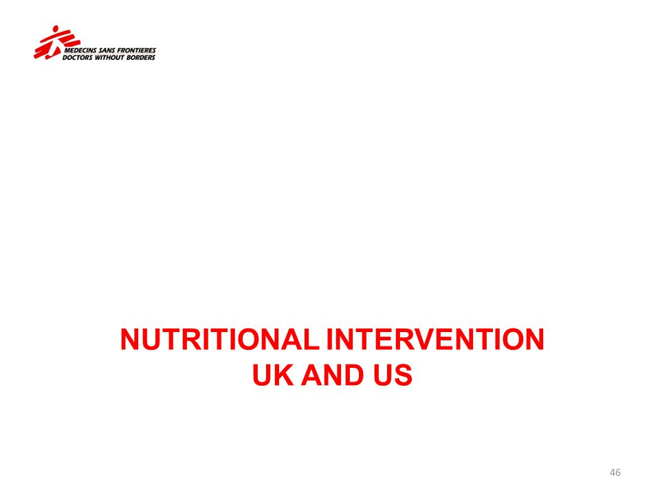 NUTRITIONAL INTERVENTION UK AND US 46