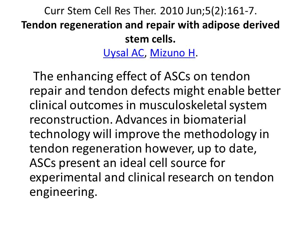 Curr Stem Cell Res Ther. 2010 Jun;5(2):161-7.