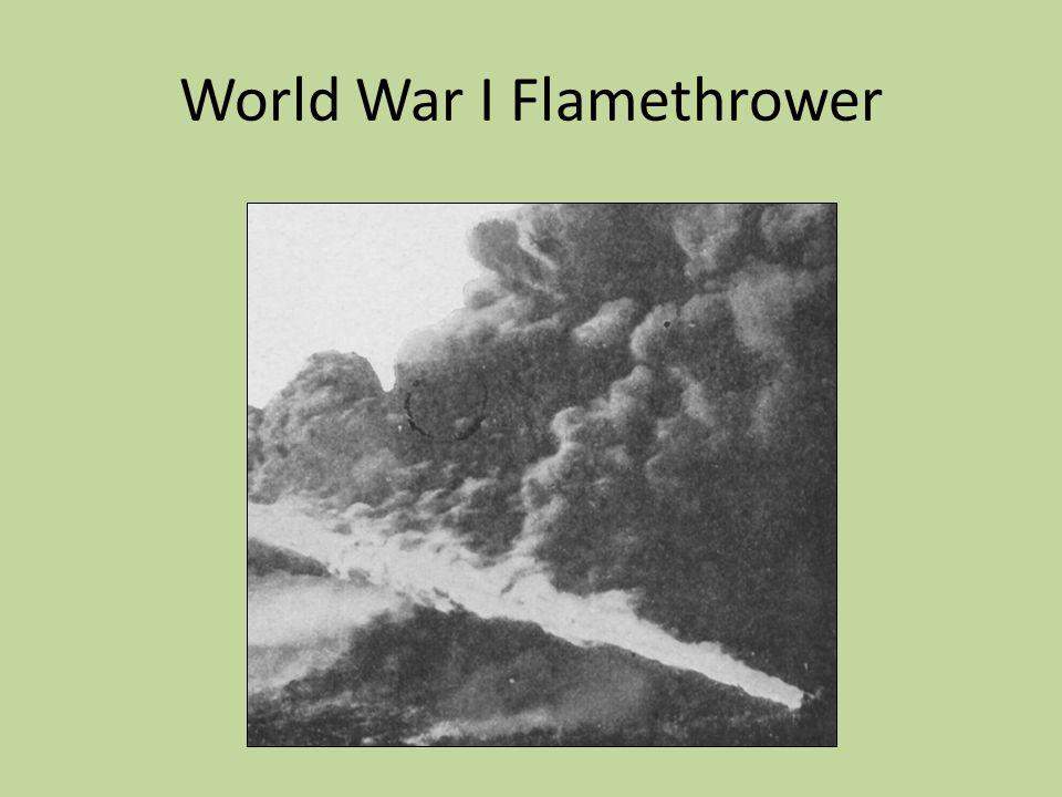 World War I Flamethrower