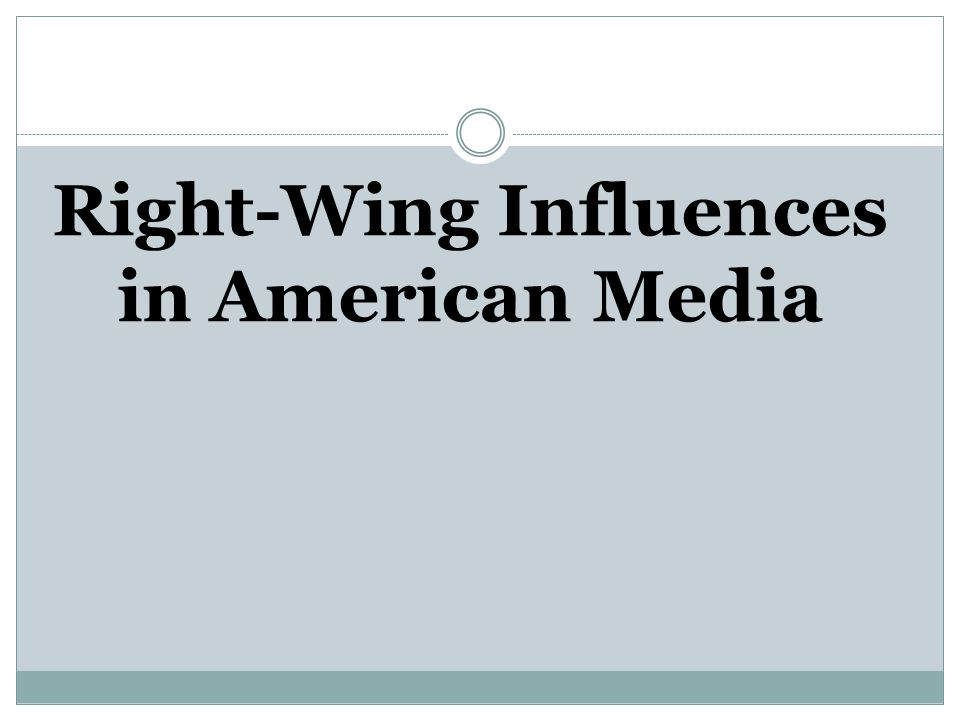 Right-Wing Influences in American Media