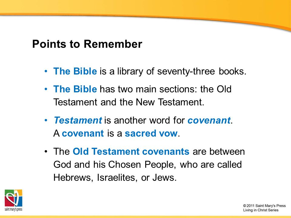 The Bible is a library of seventy-three books.