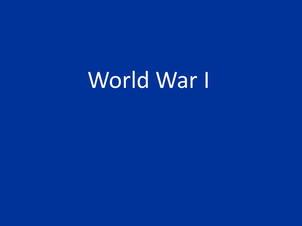 New Weapons World War I is the first war with a large-scale use of weapons: – Machine gun – Tanks – Airplanes – Flame throwers – Submarines