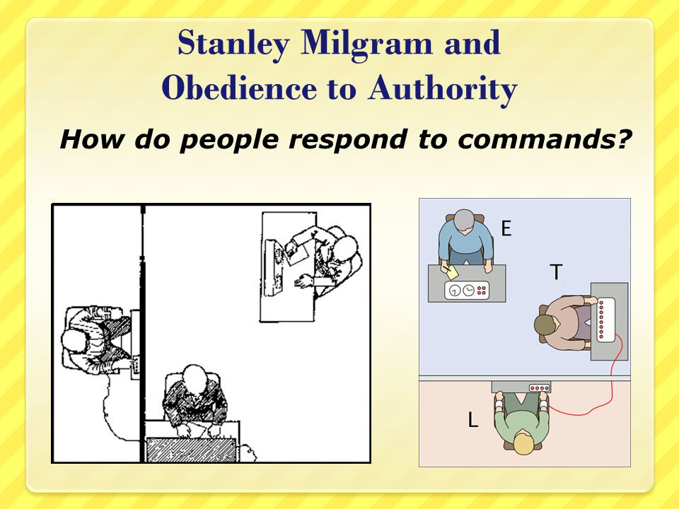 Stanley Milgram and Obedience to Authority How do people respond to commands?