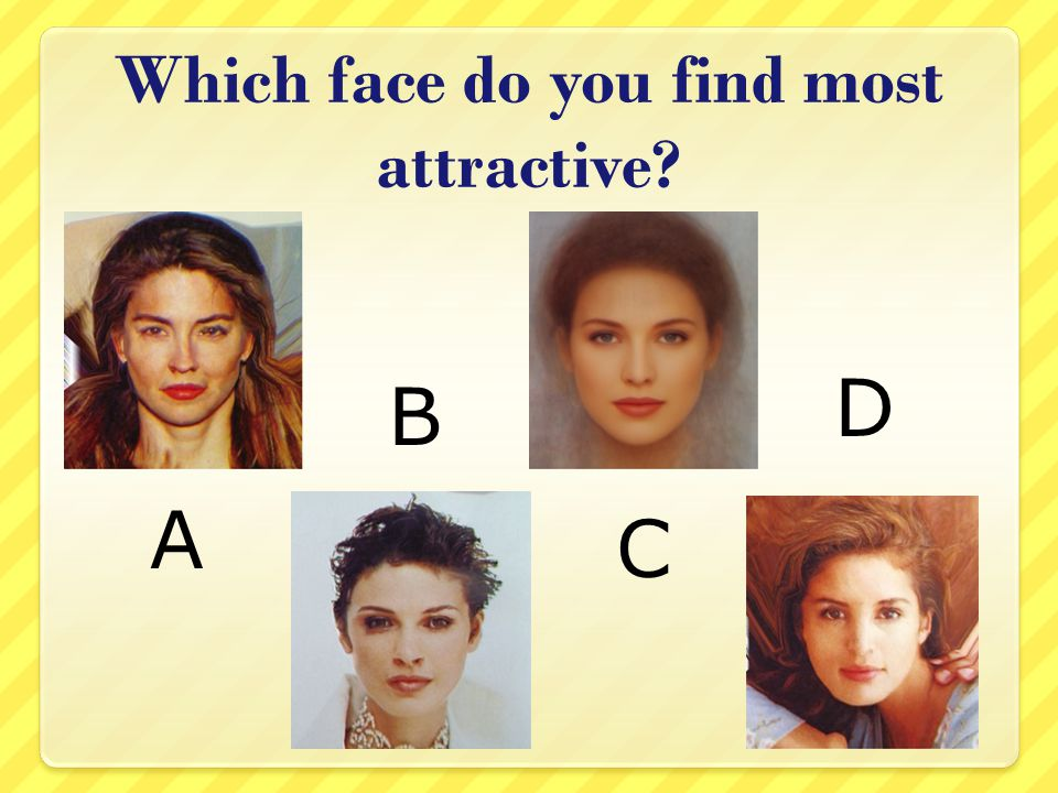 Which face do you find most attractive? A B C D