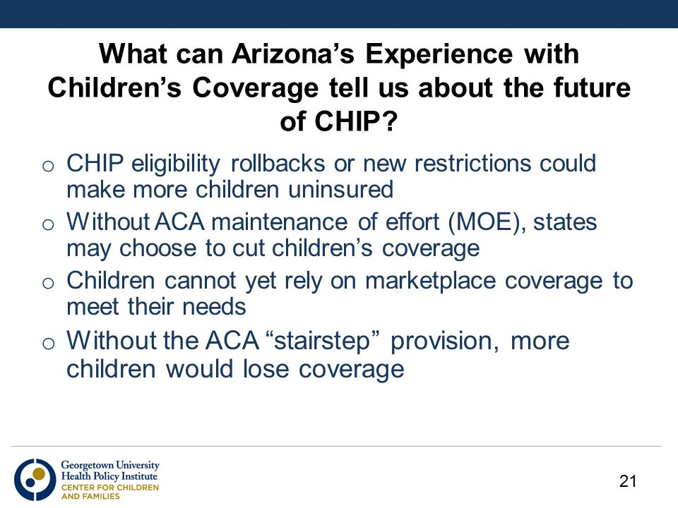 What can Arizona's Experience with Children's Coverage tell us about the future of CHIP.