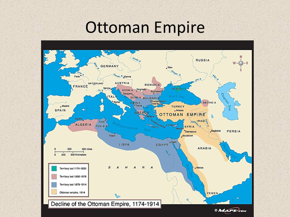 War in the Near East Ottoman Empire (Turkey) sides with Germany, Austria and Italy Main interests – further territories in North Africa – Balkans – Pr