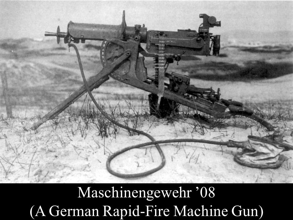 Maschinengewehr '08 (A German Rapid-Fire Machine Gun)