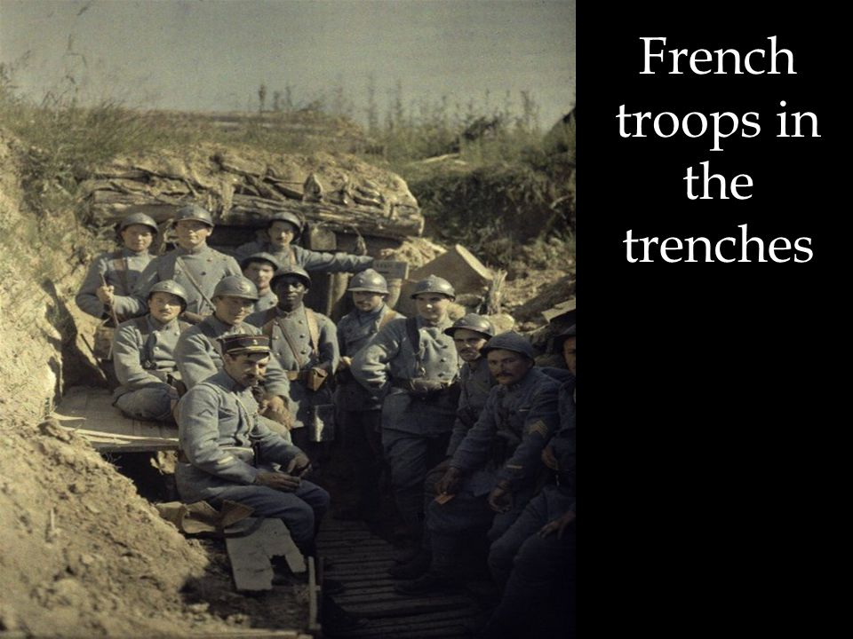 French troops in the trenches