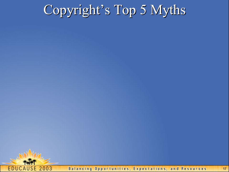 17 Copyright's Top 5 Myths