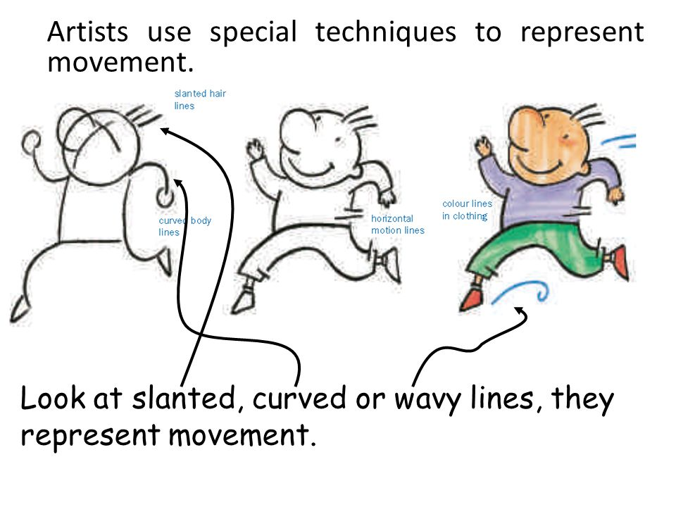 Artists use special techniques to represent movement.