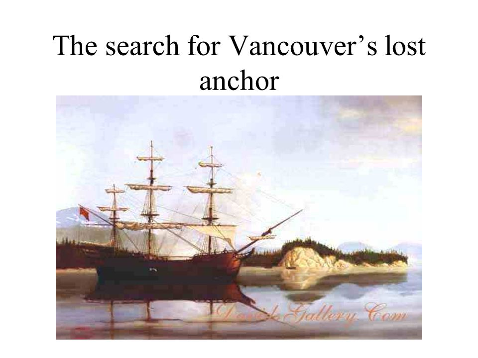 HMS Discovery and HMS Tender Chatham at anchor 1792 somewhere in the Straits of Juan de Fuca