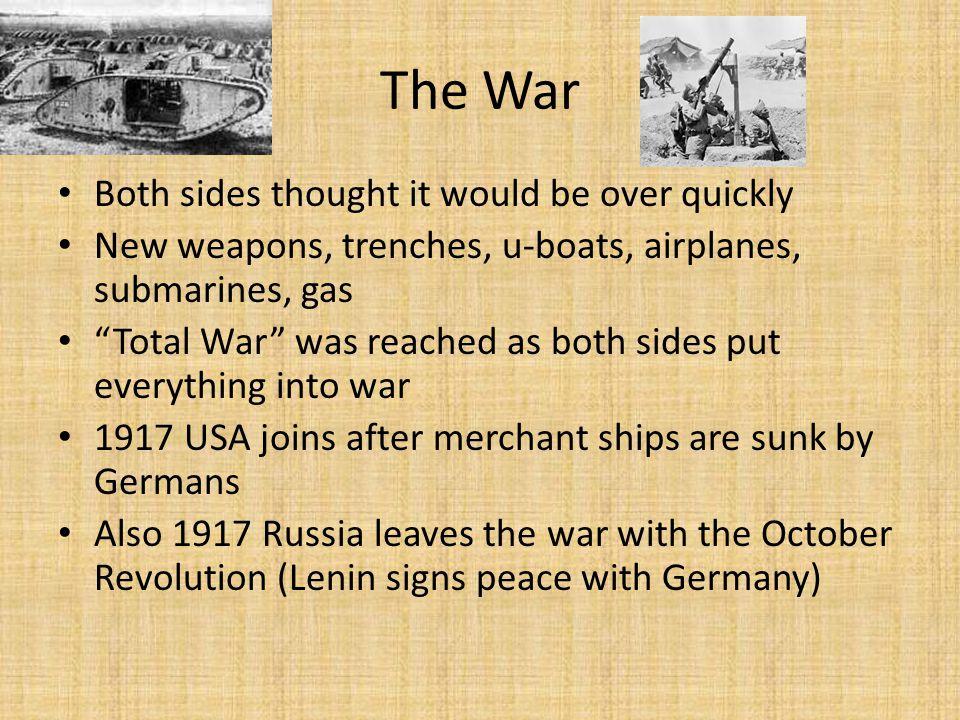 World War I Technology/Weapons