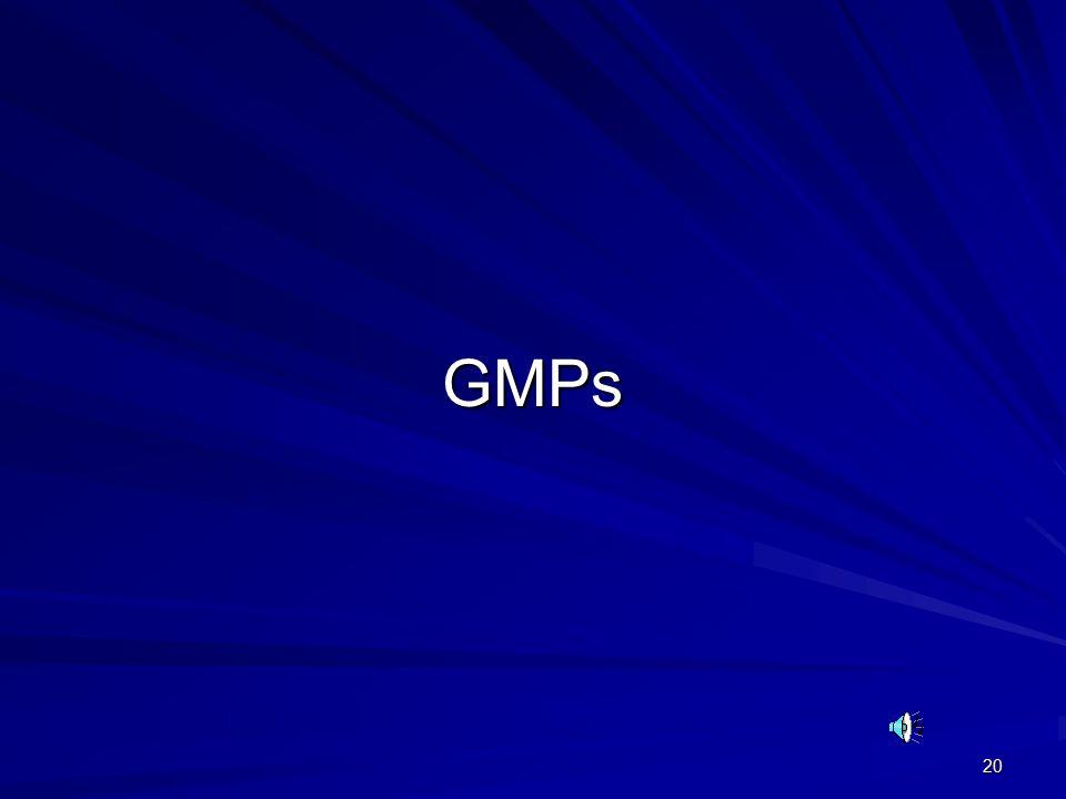 20 GMPs