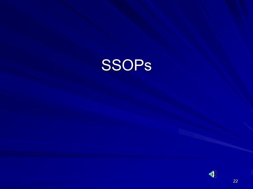 22 SSOPs