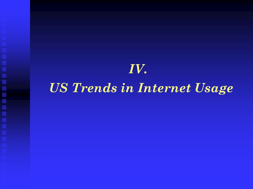 IV. US Trends in Internet Usage