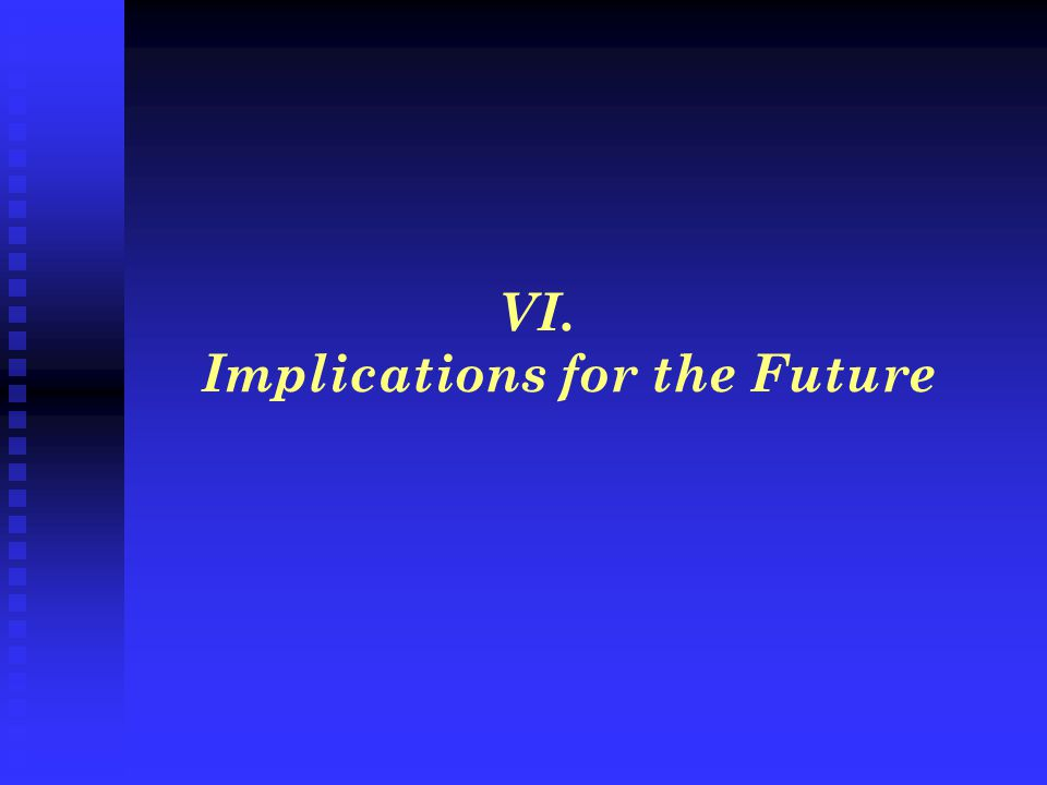 VI. Implications for the Future