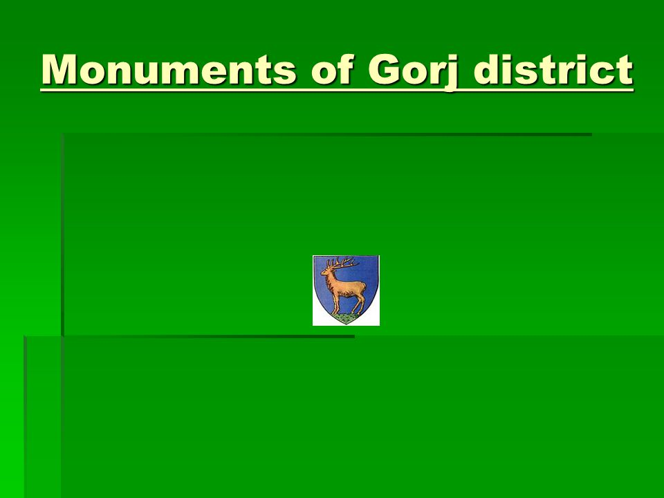 Monuments of Gorj district