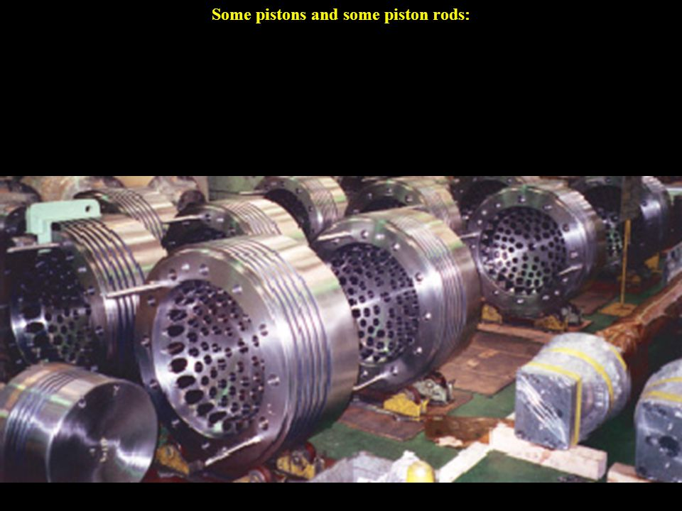 The spikes on the piston rods are hollow tubes that go into the holes you can see on the bottom of the pistons (left picture) and inject oil into the inside of the piston which keeps the top of the piston from overheating.