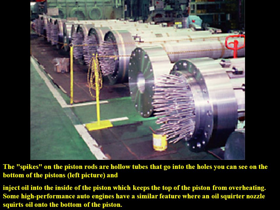 The cylinder deck (10 cylinder version).Cylinder liners are die-cast ductile cast iron.