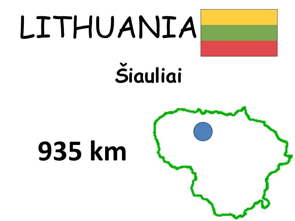 LITHUANIA Šiauliai 935 km
