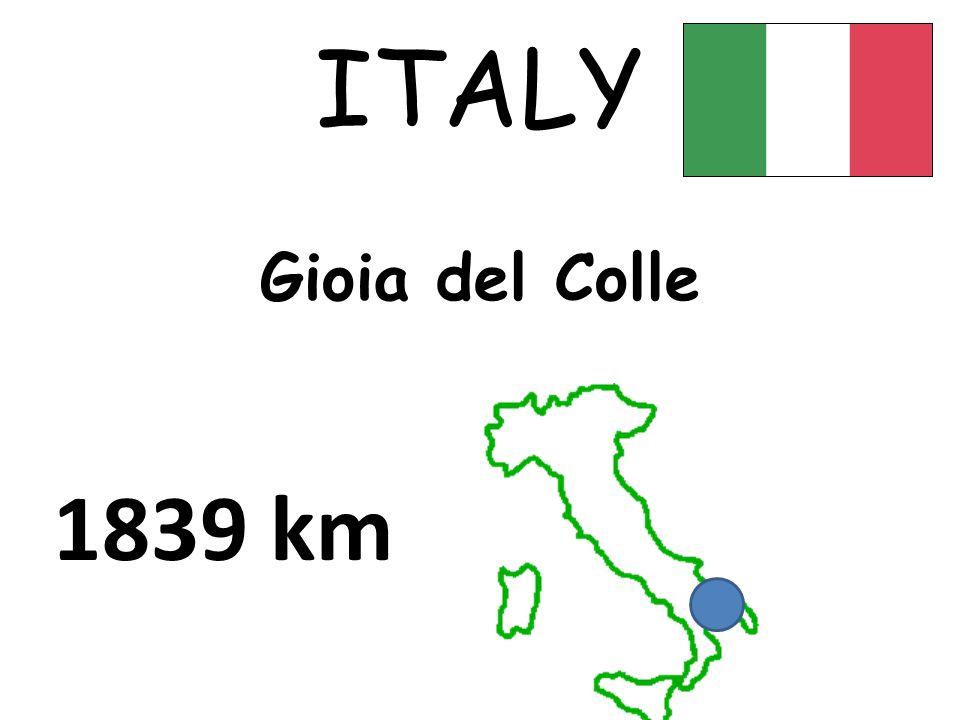 Gioia del Colle ITALY 1839 km