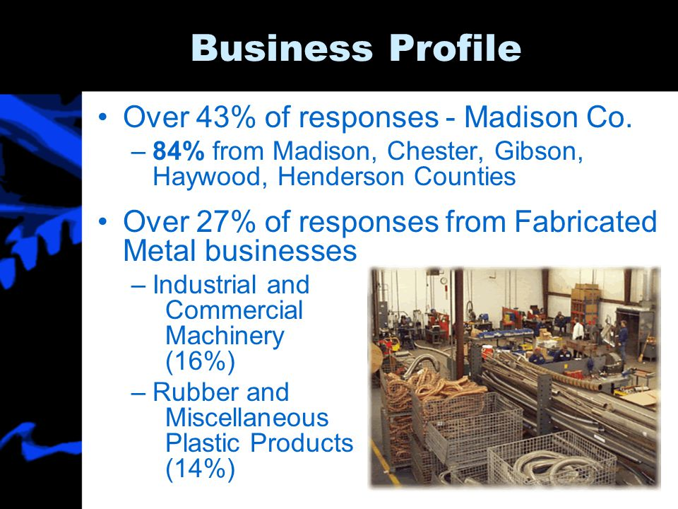 Business Profile Over 43% of responses - Madison Co.