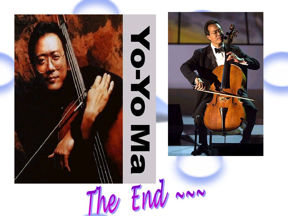 From this report,I have learned so much from Yo-Yo Ma,especially the spirit of studies and good relations with people and loving family.