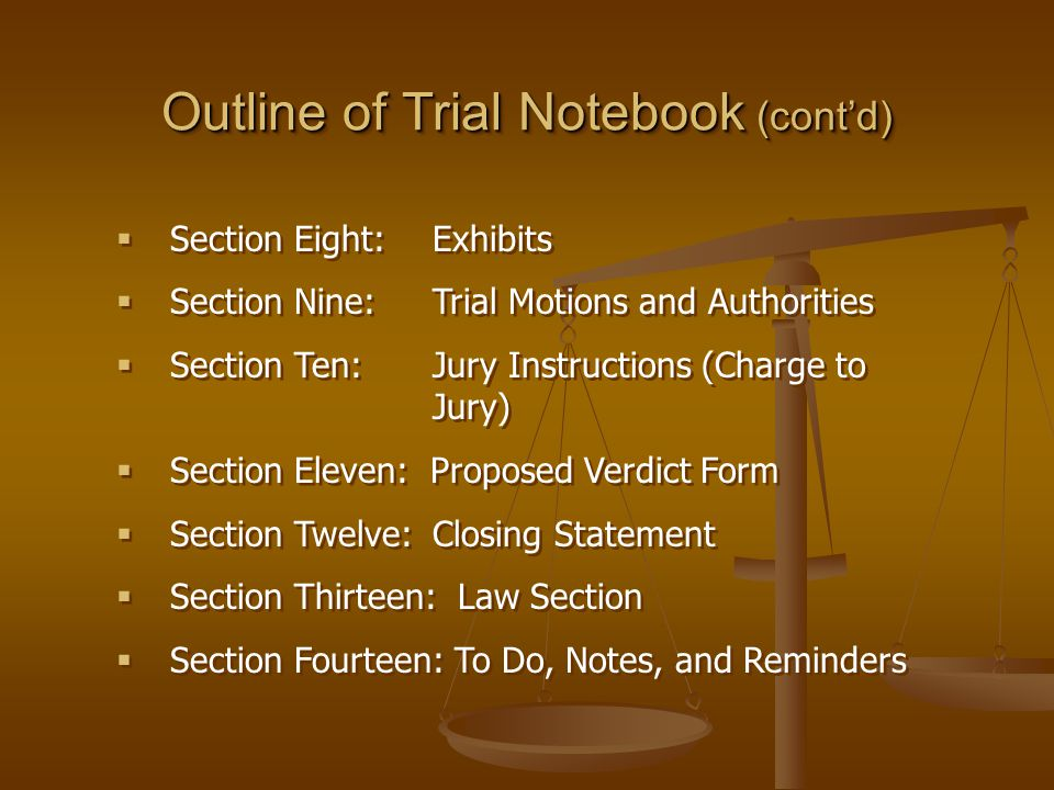 Jury Instructions  After closing arguments the judge instructs the jurors in the meaning of the law that is applicable to the facts.