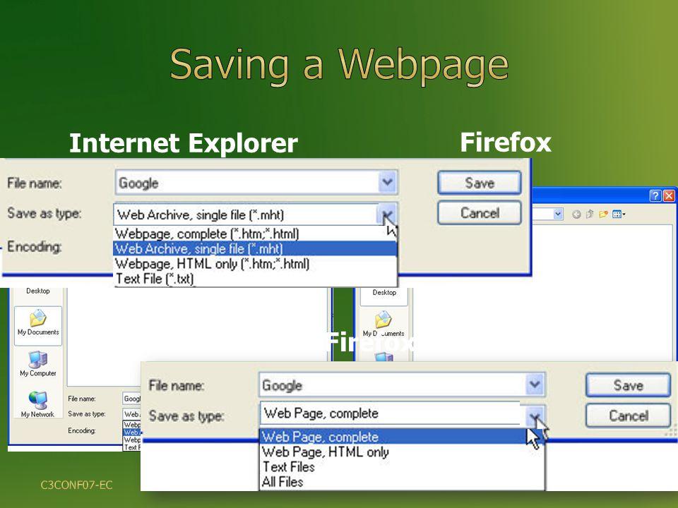 Internet Explorer Firefox 30 Firefox C3CONF07-EC