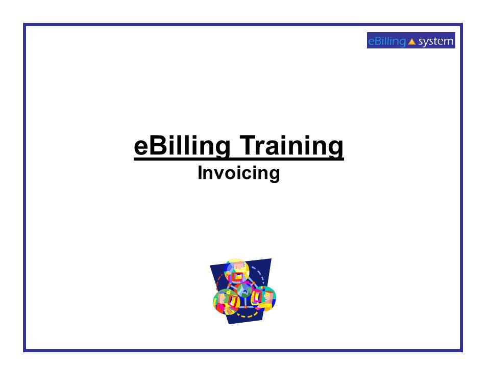 eBilling Training Invoicing