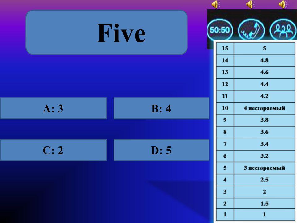 3 A: treeB: three C: triD: trie
