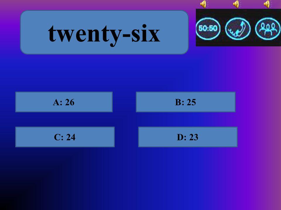 A: nine-for D: ninefourC: nine four B: ninety-four 94