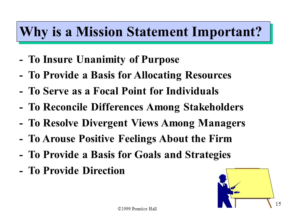 15 Why is a Mission Statement Important.
