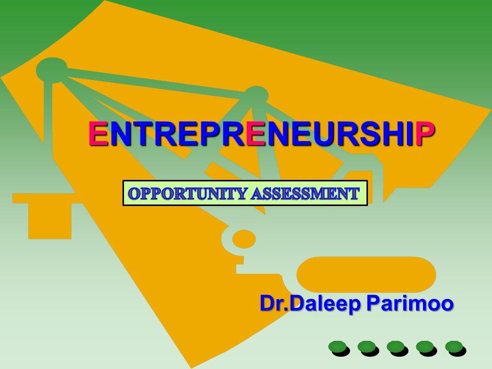 Dr.Daleep Parimoo ENTREPRENEURSHIP