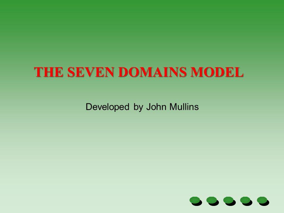 THE SEVEN DOMAINS MODEL Developed by John Mullins