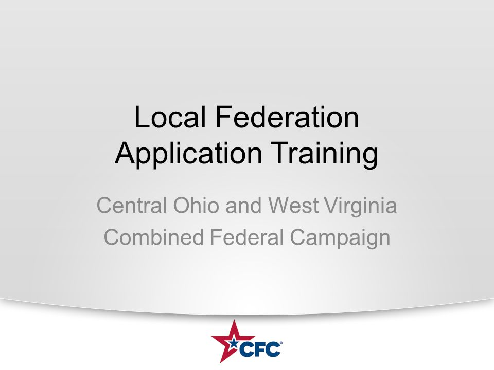 Syllabus Introductions Campaign Structure Campaign Timeline (2 years) Purpose of the Application Federation Application & Attachments Member Agency Application & Attachments Review Process