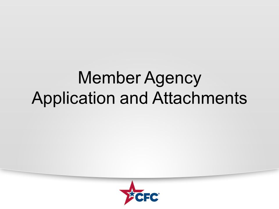 Member Agency Application and Attachments