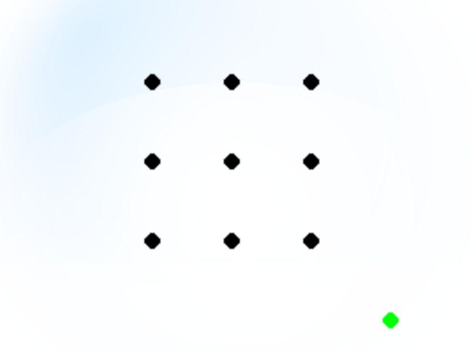ارسمي 4 خطوط مستقيمة تمر بجميع النقاط
