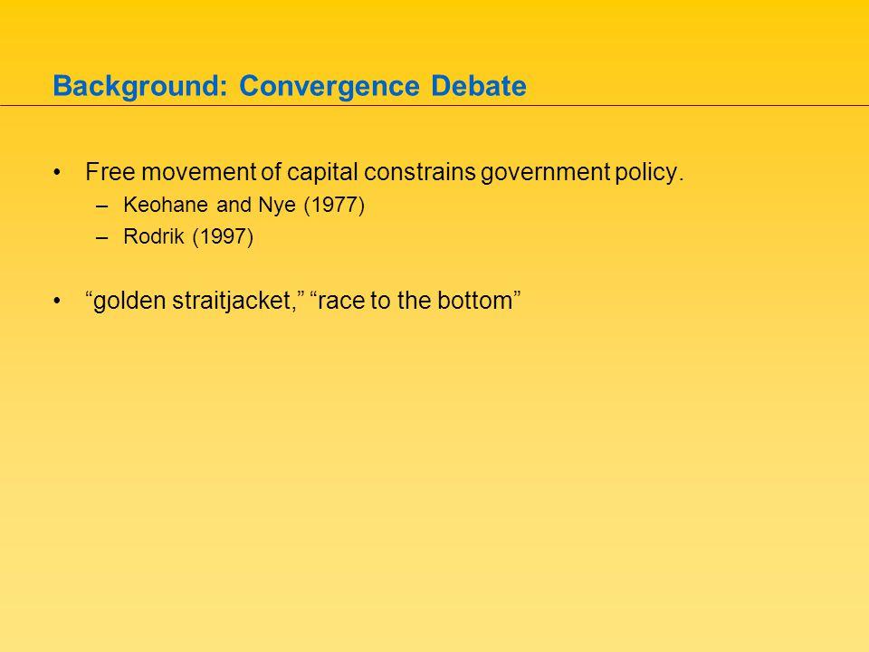 Divergence? Garrett (1998) Cai and Treisman (2005)
