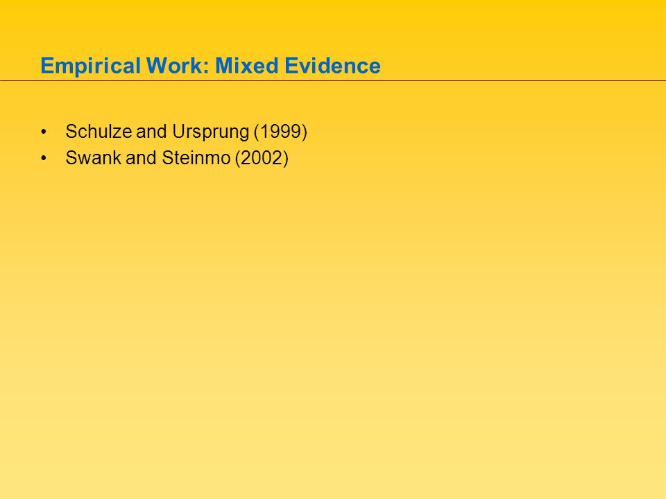 Our Contribution Our theoretical framework –Worker/voter elects policy based on utility maximization.