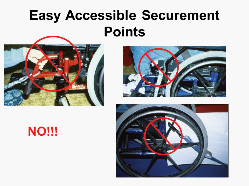 Easy Accessible Securement Points NO!!!