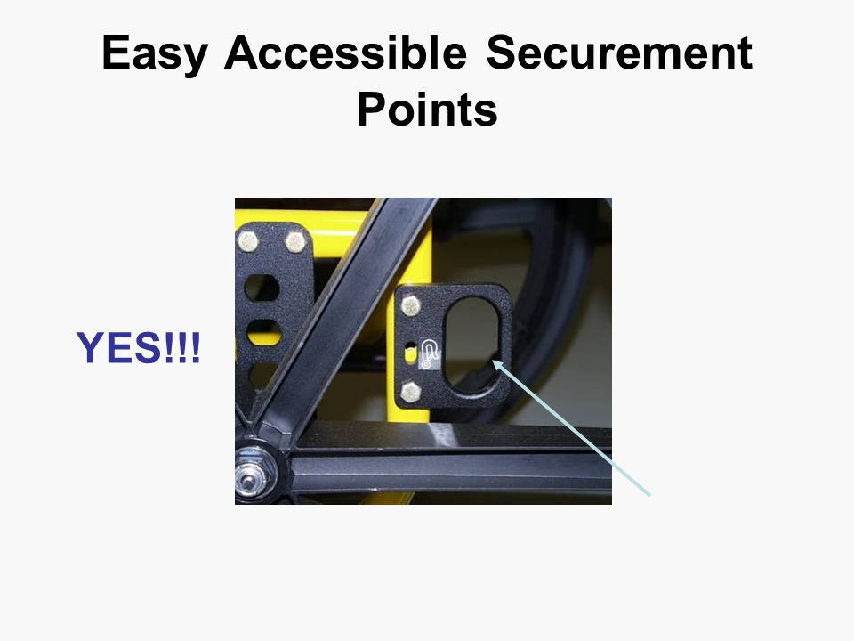 Easy Accessible Securement Points YES!!!