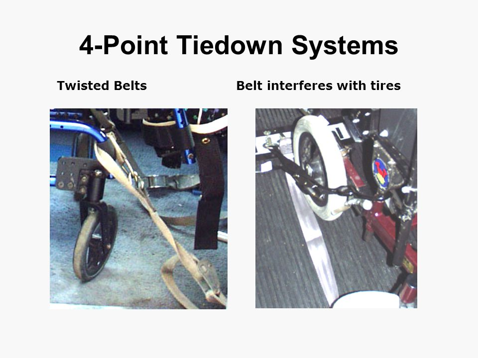 4-Point Tiedown Systems Twisted BeltsBelt interferes with tires