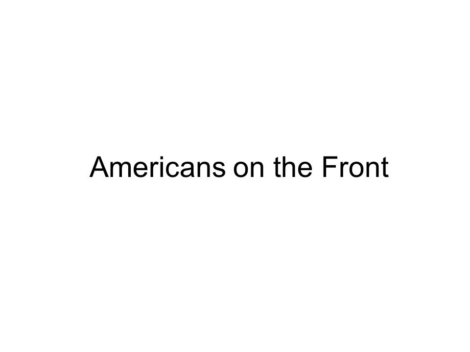 Americans on the Front