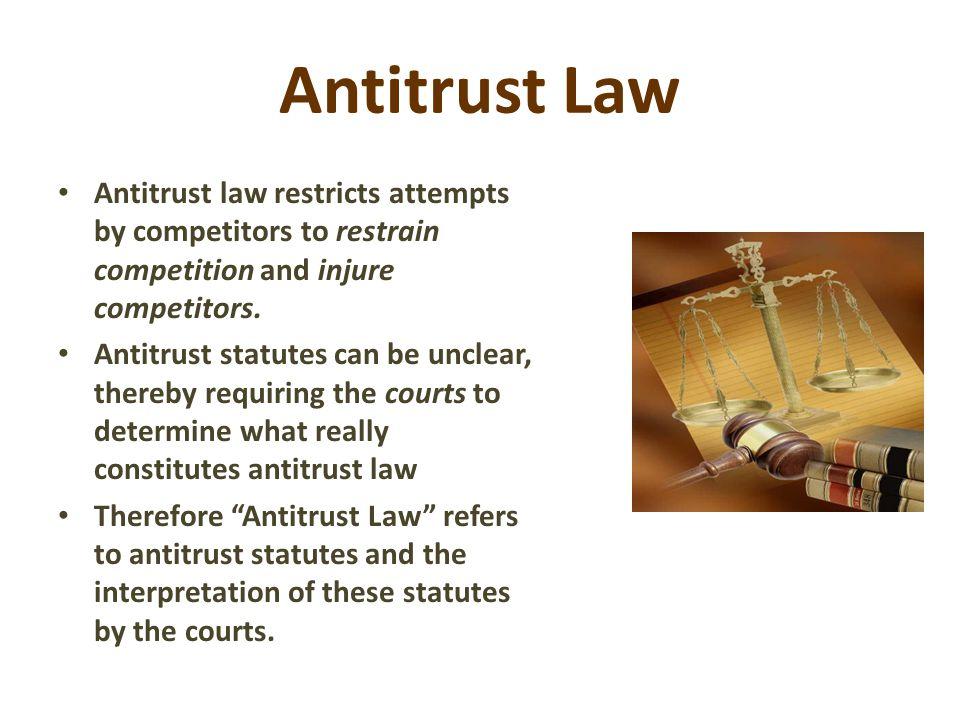 Chapter 20 Antitrust Law