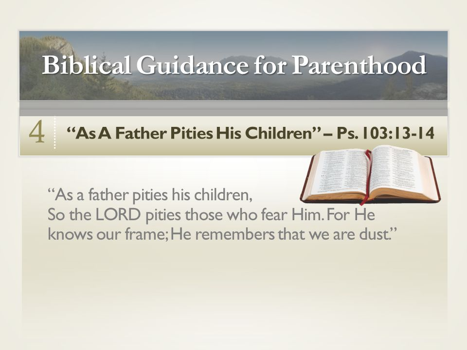 As A Father Pities His Children – Ps.